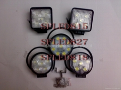 LED LIGHT BAR LED WORK LIGHT LED DRIVING LAMP LED827 ROUND