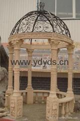 涼亭石柱羅馬柱
