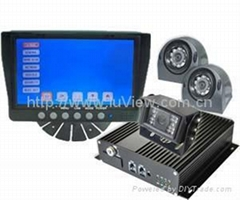 7-inch CCTV surveillance security DVR with rearview and sideview camera for buse