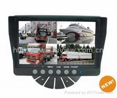 "7"" car video monitors with quad function"