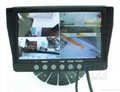 7 inch monitor bulit-in quad split for car
