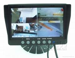 7 inch monitor bulit-in quad split for car