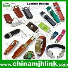 Nice 4gb 8gb leather usb flash drive usb pen