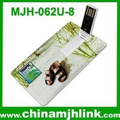 Popular 4gb 8gb plastic card usb flash drive stick memory key disk