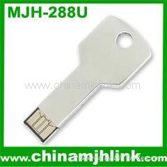 Popular 1gb 2gb 4gb metal key shape mini usb flash drive stick memory key disk