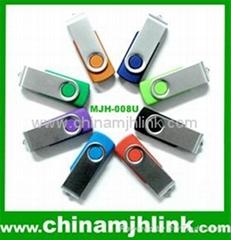 Fashion hot 16gb 32gb metal twist usb flash drive stick memory key disk