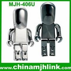 Popular 2gb 4gb 8gb plastic man usb flash drive stick memory key disk