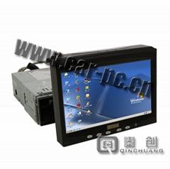 秦创科技车载电脑专用7寸手动伸缩带触摸带VGA液晶显示器