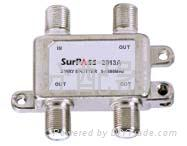 catv splitter & taps  (3 way splitter)