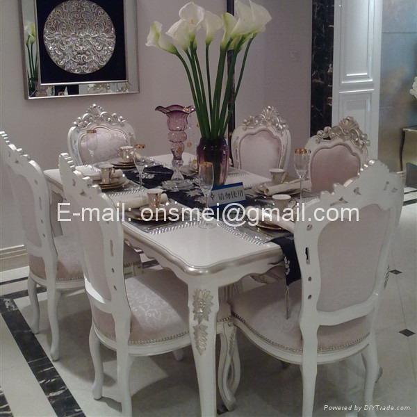 白色欧式餐桌椅