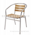 K04A# Aluminum wooden chair(or aluminum chair)