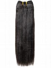 selling 100% human hair yaki curl weft
