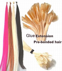 selling 100% remy human hair extension remy nail hair