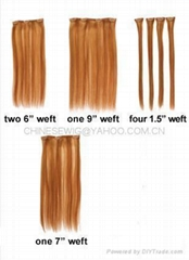 selling 100%human hair extension