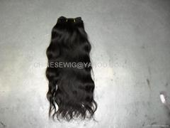 selling 100%human hair virgin natural wave