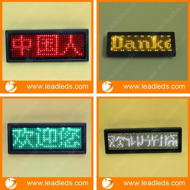 factory price LED name badge support Arabic language 1