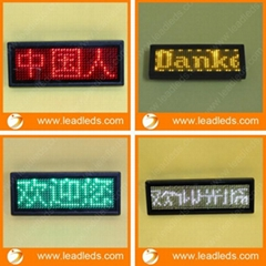 factory price LED name badge support Arabic language
