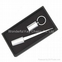 key chain and letter opener