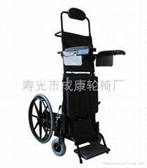 半自动电动站立轮椅
