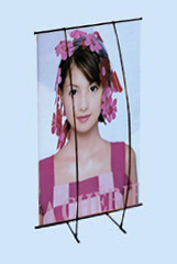 L banner stand (two poles)