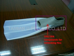 TPE/TPR Compounds for swimming fins