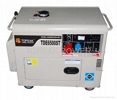 Three phase silent diesel generators
