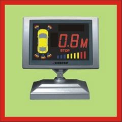 Colorized screen LCD parking sensor with English speech