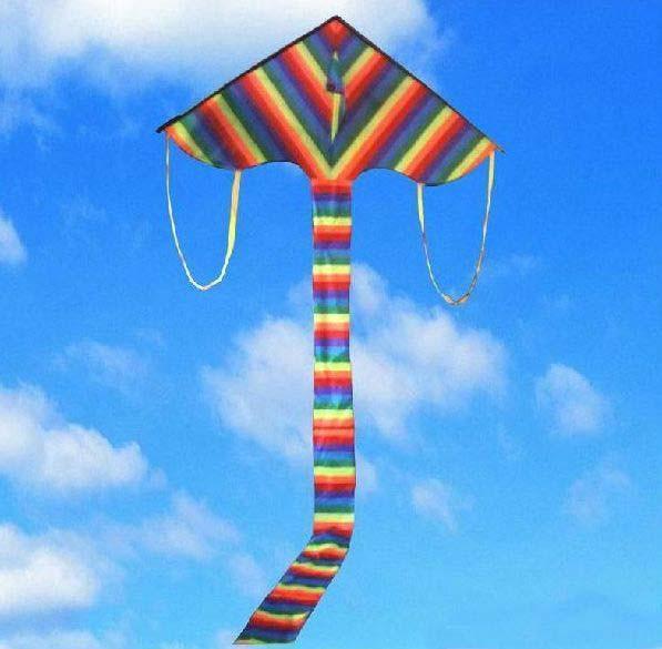 彩虹三角风筝图片