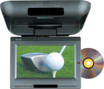 10.2寸吸顶式车载DVD播放器兼显示屏 (带电视接收功能) 1