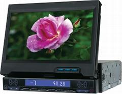 7寸吸入式車載DVD顯示屏 (帶電視接收功能)