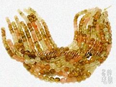 西瓜皮圆珠手链