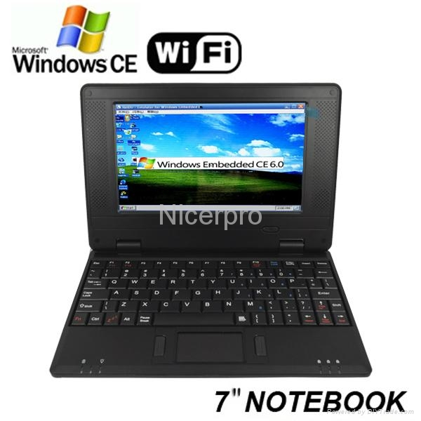 Netbook 7 inch/ Mini Laptop 7inch with RoHs CE Certificates Window CE6.0 1