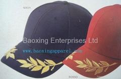 橄欖葉繡花帽