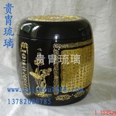供应冬瓜型琉璃骨灰桶