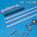 18 FT Residential In-Ground Steel Flagpole Kit 1