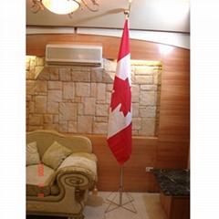 8 FT 2 Pieces Aluminum Indoor Flagpole