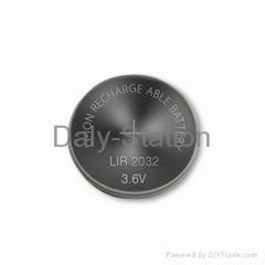 3.6V Rechargeable Li-ion button Cells