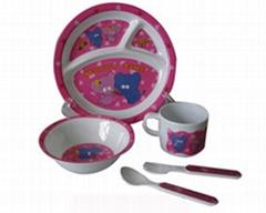 melamine children dinnerware set
