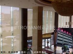 长沙办公窗帘之室内手/电动遮阳窗饰系统