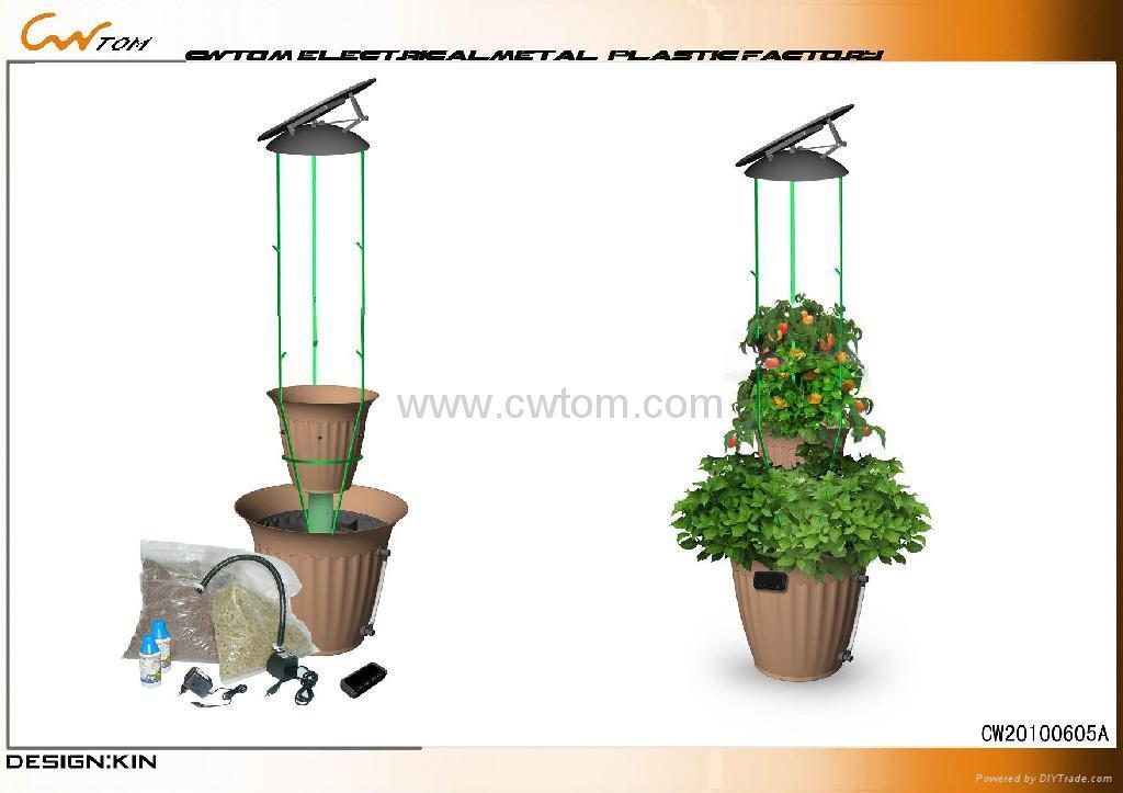Solar Auto Watering Pot Hydroponics Solar Pot Cws 012b