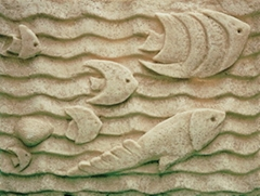 Sandstone decorative background board