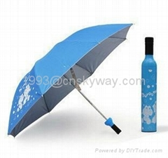 Custom Wine Bottle Umbrellas,Umbrella In Bottle of Wine