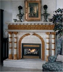 MFP007(MFP007-M-R),拱門羅馬柱壁爐