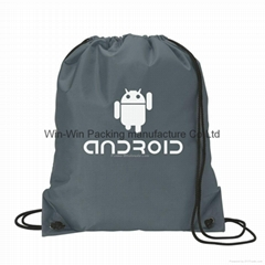 Sell PVC drawstring shopping and shoe bag for promotional packing