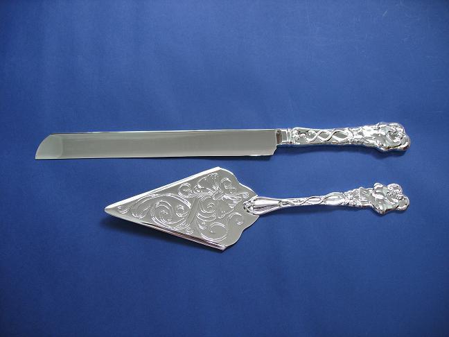 Knifes Engraved Sterling Silver Cake Knife Wedding