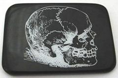 骷髏花紋帶扣