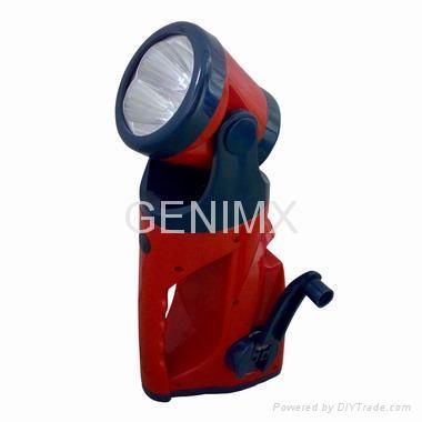 Mulitifunction Cranking Dynamo Flashlight 1