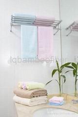 竹棉缎档毛巾