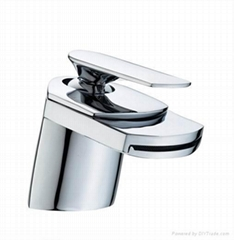 Single lever basin mixer-brass chrome