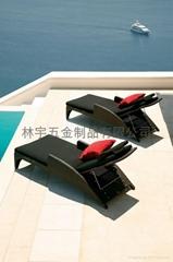 藤编户外沙滩椅